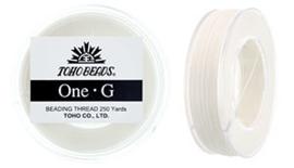 PT-250-01 TOHO One-G Thread White, per spoel van 229m