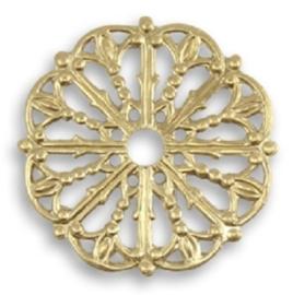 Vintaj Medallion Filigree 17.5mm, per stuk