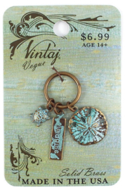 Vintaj Patina Imagine Sea, Natural Brass, per stuk