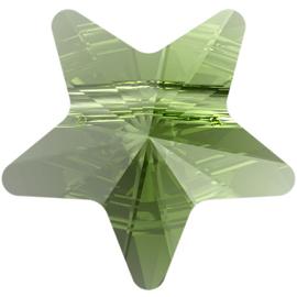 Swarovski #5714 Star Bead 12mm Peridot, per stuk