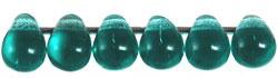 PCD-0406/60220 Czech Drops Teal, per 50 stuks