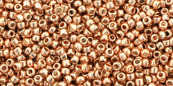 TR15-0551 TOHO Round 15/0 Galvanized Rose Gold, per 5 gram