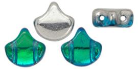 PBGIN-S11C60020 Matubo Ginko/Gingko Leaf Backlit Aquamarine, per 5 gram