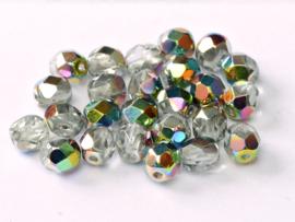 00030/28101Fire polished 4mm Crystal Vitrail, 100, of 50 stuks, vanaf