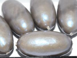 Paper Mache Olive 40x18mm Medium Brown, per stuk