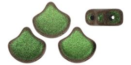 PBGIN-94103JT Matubo Ginko/Gingko Leaf Polychrome Olive Mauve, per 5 gram