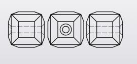 Swarovski #5601 Cube Bead 4mm Mint Alabaster, per 5 stuks