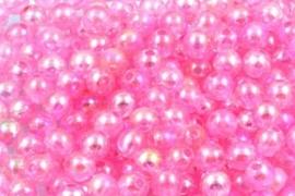 Acrylkraal 8mm ab roze per 25 gram ongeveer 110  stuks