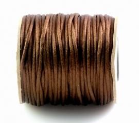 Satijnkoord 2mm Donkerbruin, per 10 of 5 meter, vanaf