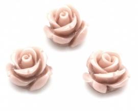 Kraal roos 11 mm Vintage rose