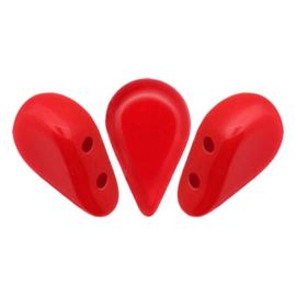 Amos® par Puca® Opaque Coral Red, per 25 stuks