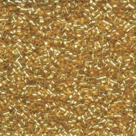 DBC0042 Miyuki Delica 11/0 Silver Lined Gold Hex Cut, per 5 gram