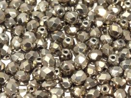 00030/27500Fire polished 4mm Crystal Argentic Full, 100, of 50 stuks, vanaf