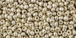 TR11-PF0558 Toho Rocailles 11/0 Permanent Finish Galvanized Aluminum, per 10 gram