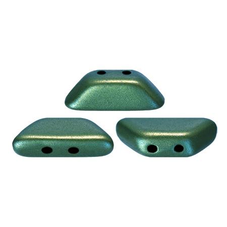 Tinos® par Puca® Metallic Mat Green Turquoise, per 25 stuks