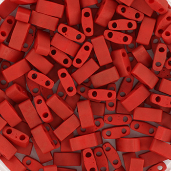 HTL-2040 Miyuki Half Tila 5x2,3mm Metallic Matte Brick Red, per 5 gram