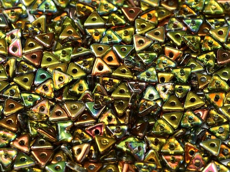 Tri-bead Crystal Magic Green, per 5 gram (±140 stuks)