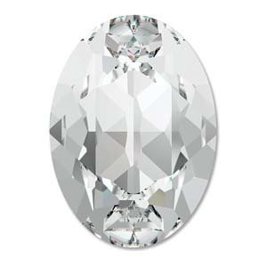 Swarovski #4120 8x6mm Crystal, foiled, per 10 stuks of 1 stuk, vanaf