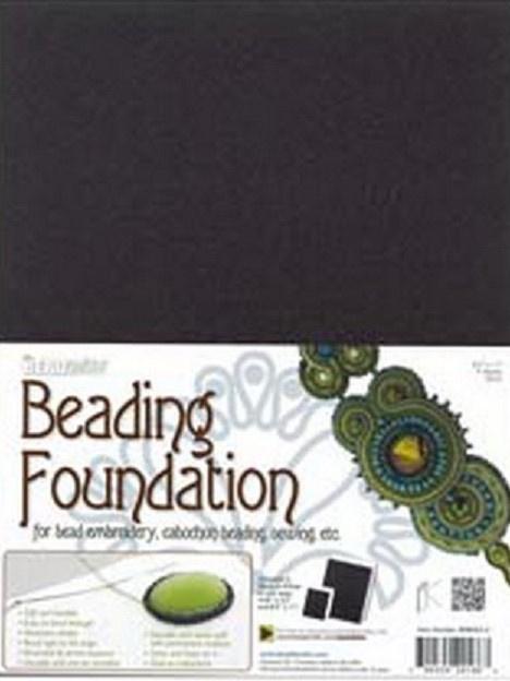 Beading Foundation ca 21 x 28 cm Zwart