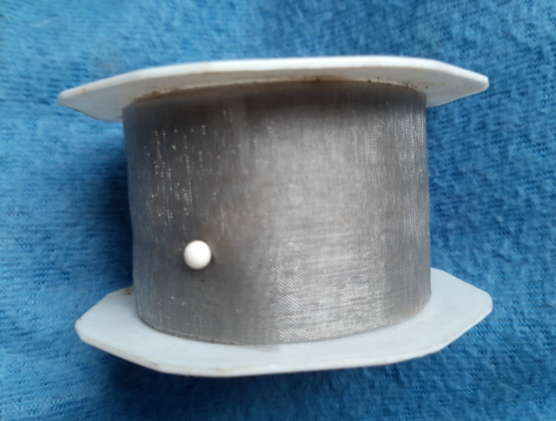 Organzalint 3mm Lichtgrijs, per rol 5 meter
