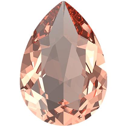 Swarovski #4320 Pear Fancy Stone, 14x10mm Silk, per stuk