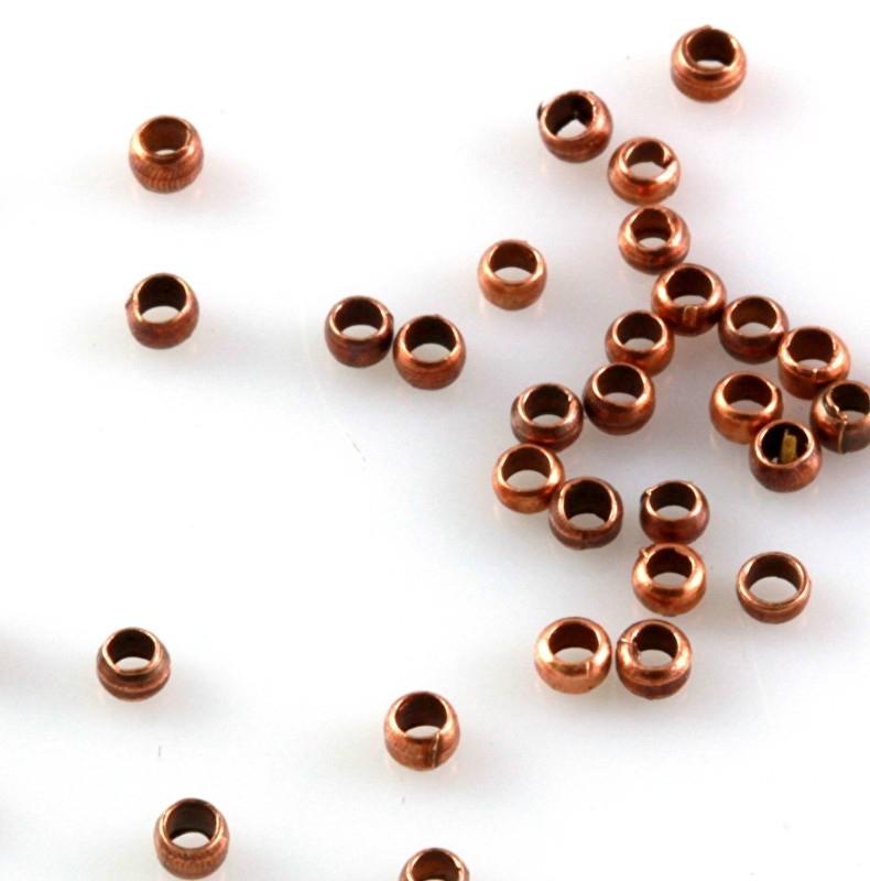 Knijpkraal koper kleurig per 5 gram ongeveer 400 stuks
