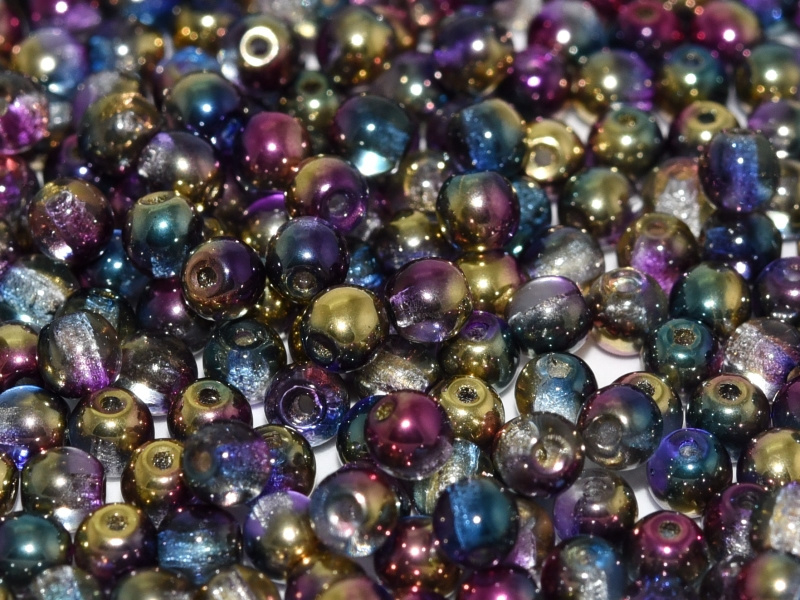 Tsjechisch/Czech rond Sunny 3 mm Crystal Sunny Magic Royal, per 100 stuks