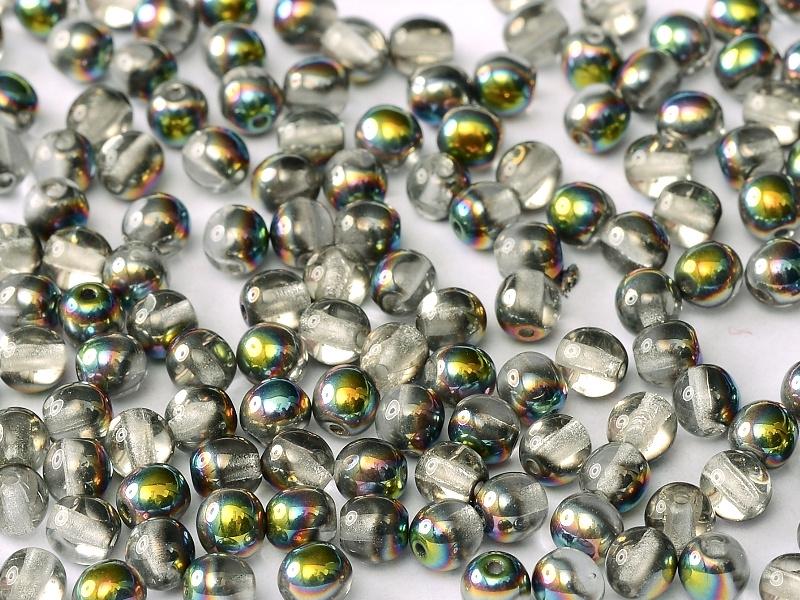 Tsjechisch/Czech rond 4mm Crystal Vitrail, per 100 stuks
