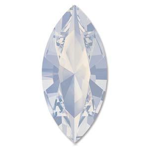 Swarovski #4228 Navette 15x7mm White Opal foiled, per stuk