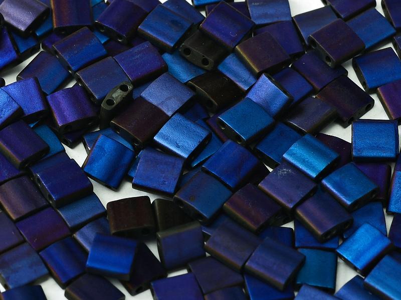 TL55110 Tila Beads Black Azuro Full Matted, per 5 gram