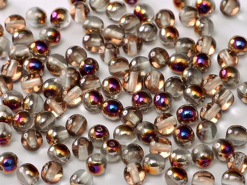 Tsjechisch/Czech rond 4mm Crystal Sliperit, per 100 stuks