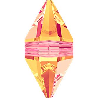 Swarovski #5747 Double Spike Bead 16x8mm Crystal Astral Pink, per stuk