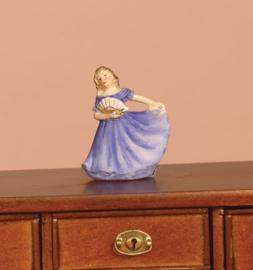 popje blauwe jurk