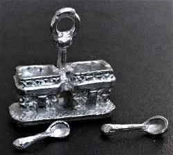 Dubbel suiker setje met lepel
