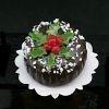 Kerst taart rond