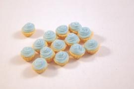 Cupcake creme blauw
