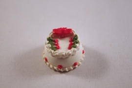 Kerst taart strik 2