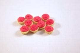 Cupcake creme rood