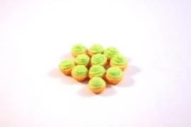 Cupcake creme groen
