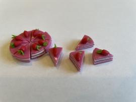 Rose punt met aardbei
