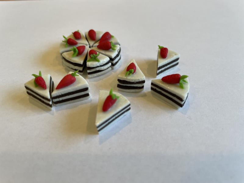 chocolade punt met aardbei