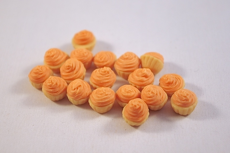 Cupcake creme oranje
