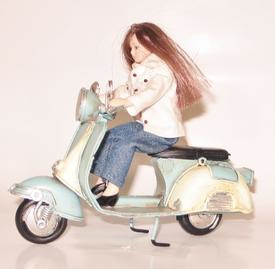 Scooter blauw wit