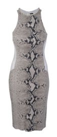 1-One jurk met slangenprint