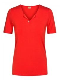 Basic jersey T-shirt met V-hals oranje