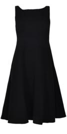 Maliparmi zwarte jurk met strik op rug 50s style