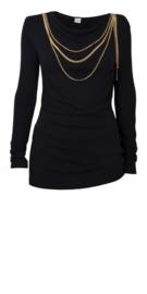 Paola Frani zwarte trui met halsketting