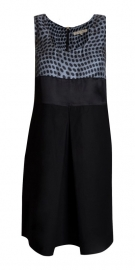 L`autre chose L`autre chose jurk zwarte stippen-lichtblauw
