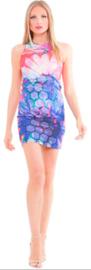 Analili jurk met honingraat print