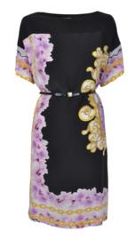CLASS Roberto Cavalli zwarte jurk met print